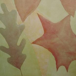 Glazed walls of summer leafs