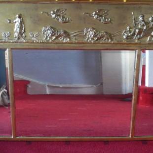 Restoration of antique gilded mirror