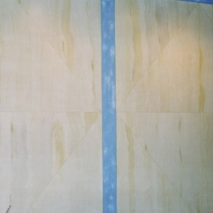 Frank Lloyd Wright inspired faux grained walls